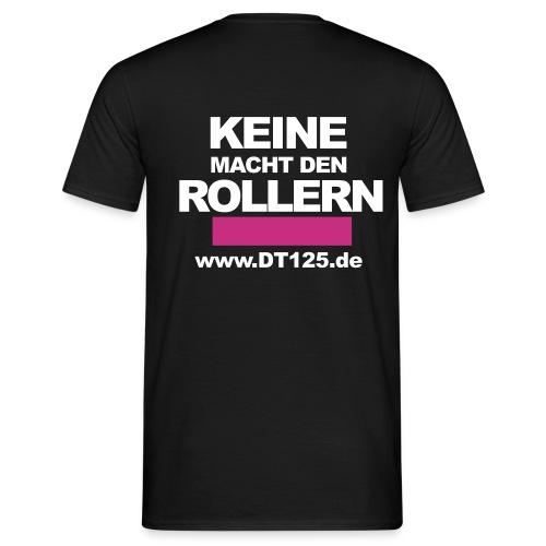 schwarzes T-Shirt mit Antiroller-Motiv - Männer T-Shirt