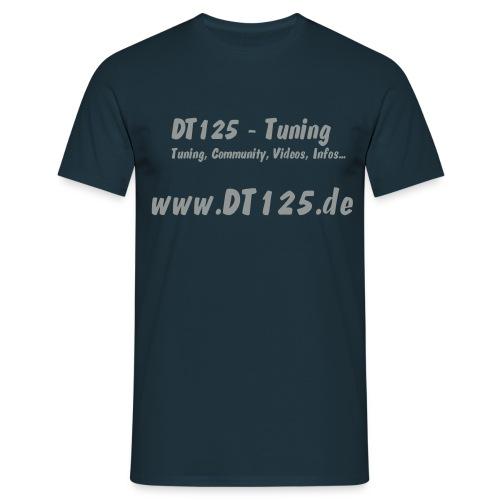 T-Shirt Comfort-blau mit DT-Tuning-Motiv UND Antiroller-Motiv!!! - Männer T-Shirt