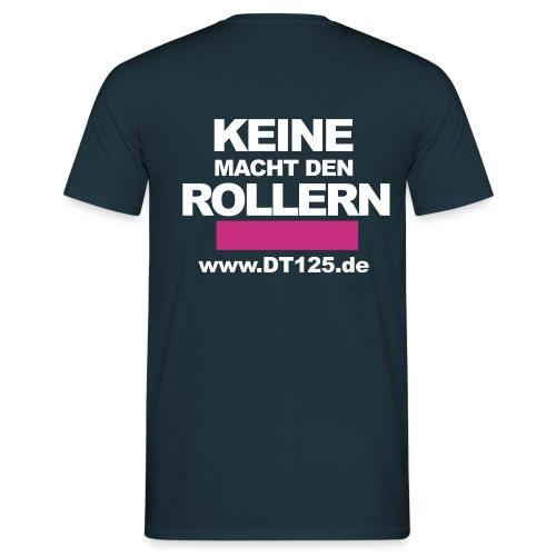 T-Shirt Comfort-blau mit Antiroller-Motiv - Männer T-Shirt