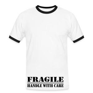 Fragile, handle with care T-shirt - Men's Ringer Shirt