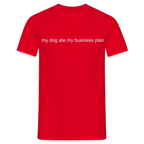my dog ate it - red - Men's T-Shirt
