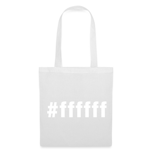 white - #ffffff - Tote Bag