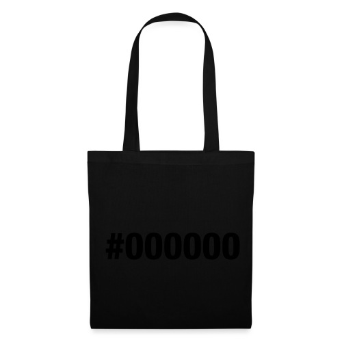 black - #000000 - Tote Bag