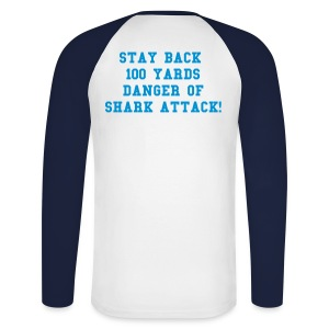 DANGER SHARK - Men's Long Sleeve Baseball T-Shirt