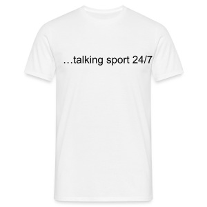Sports Talk Comfort T Shirt - White - Men's T-Shirt