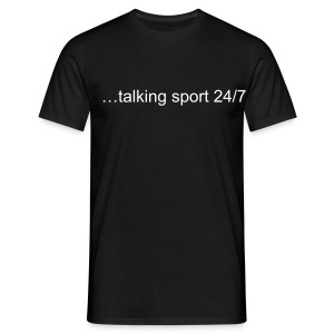 Sports Talk Comfort T Shirt - Black - Men's T-Shirt