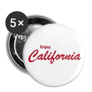 Button ENJOY CALIFORNIA 5er Pack, 56 mm - Buttons groß 56 mm