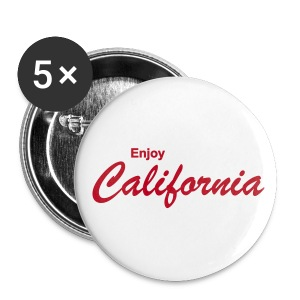 Button ENJOY CALIFORNIA 5er Pack, 56 mm - Buttons groß 56 mm