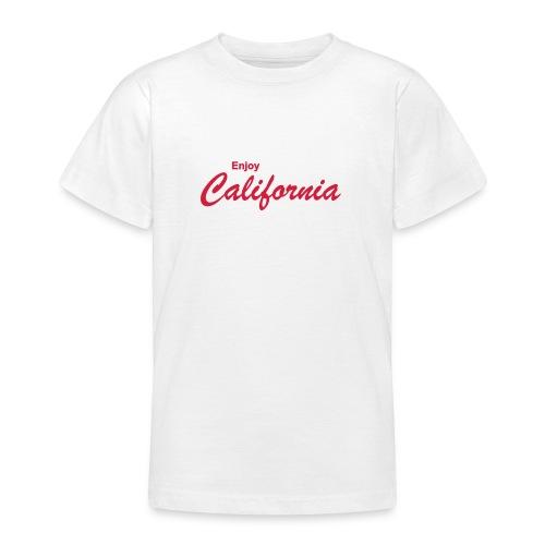 Kinder T-Shirt ENJOY CALIFORNIA weiß - Teenager T-Shirt