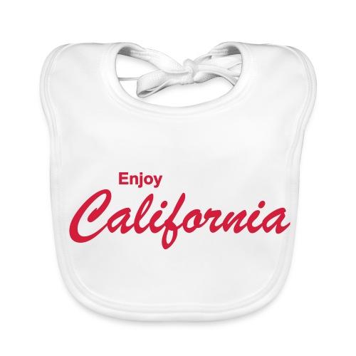 Babylätzchen ENJOY CALIFORNIA weiß - Baby Bio-Lätzchen