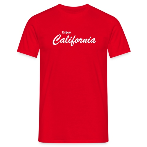T-Shirt ENJOY CALIFORNIA rot - Männer T-Shirt