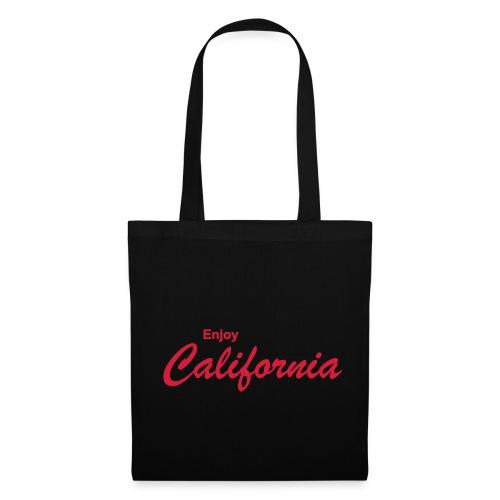 Stofftasche ENJOY CALIFORNIA schwarz - Stoffbeutel