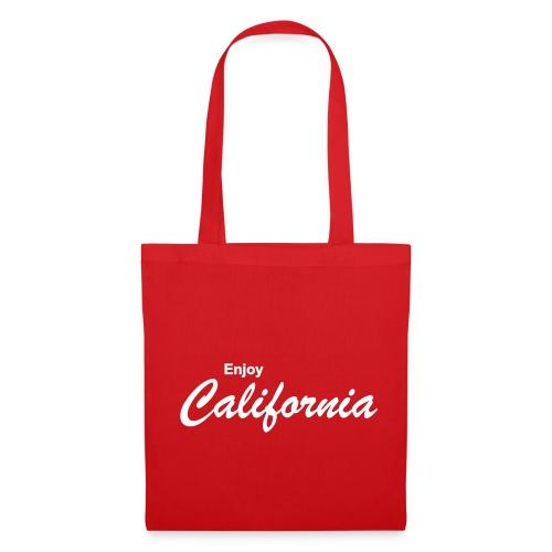 Stofftasche ENJOY CALIFORNIA rot - Stoffbeutel