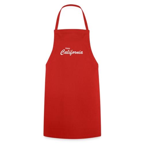 Kochschürze ENJOY CALIFORNIA rot - Kochschürze