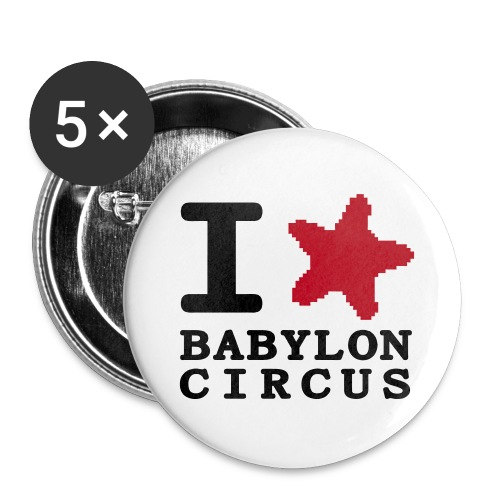 Lot de 5 Badge I Love Babylon Circus - Badge grand 56 mm