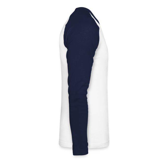 Langarm Shirt, 2-farbig, Druck Vorderseite