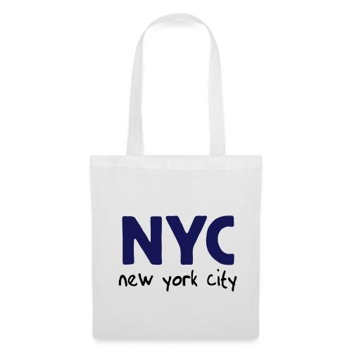 Stofftasche NYC weiß - Stoffbeutel