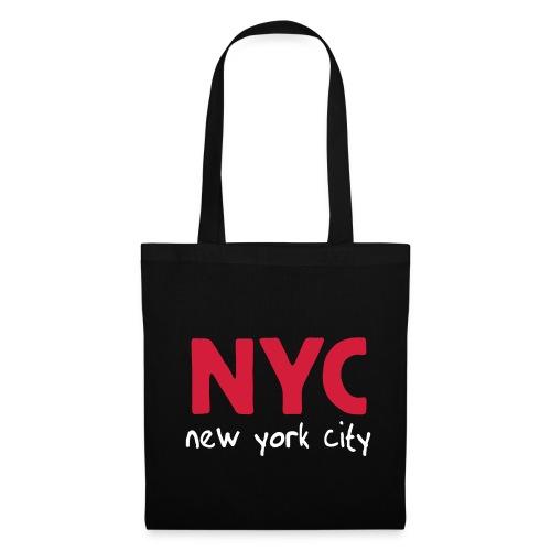 Stofftasche NYC schwarz - Stoffbeutel