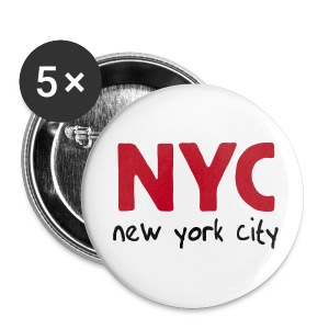 Button NYC 5er Pack, 56 mm - Buttons groß 56 mm