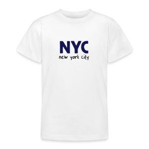 Kinder T-Shirt NYC weiß - Teenager T-Shirt