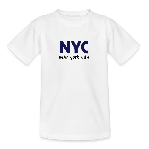 Kinder T-Shirt NYC weiß - Teenager T-Shirt