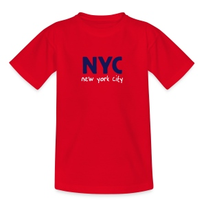 Kinder T-Shirt NYC rot - Teenager T-Shirt