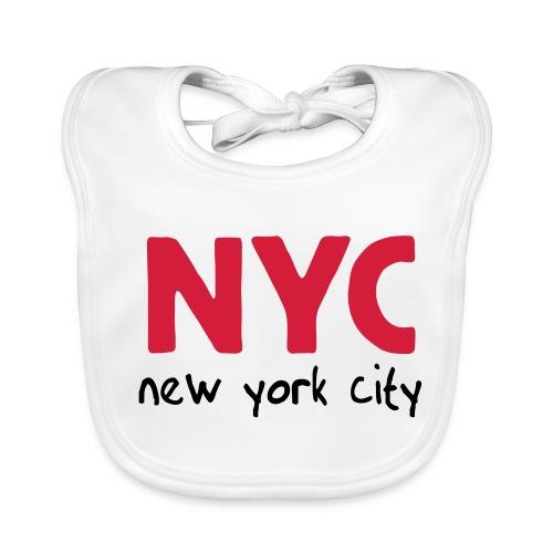Babylätzchen NYC weiß - Baby Bio-Lätzchen