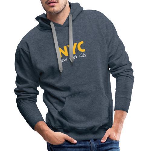 Kapuzenpullover NYC braun - Männer Premium Hoodie