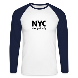 Langarm-Shirt NYC sand/charcoal - Männer Baseballshirt langarm