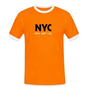 T-Shirt NYC orange/schwarz - Männer Kontrast-T-Shirt