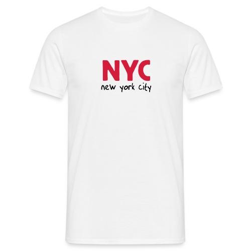 T-Shirt NYC weiß - Männer T-Shirt