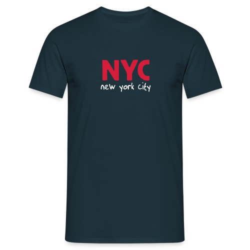 T-Shirt NYC navy - Männer T-Shirt
