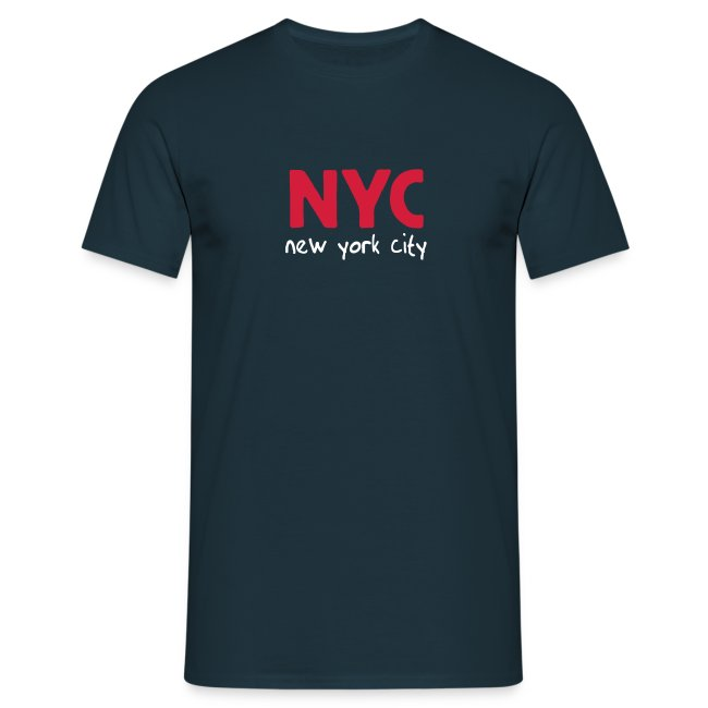 "T-Shirt ""NYC"" navy"