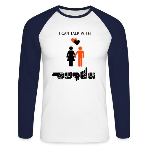 I can talk with hands - Männer Baseballshirt langarm