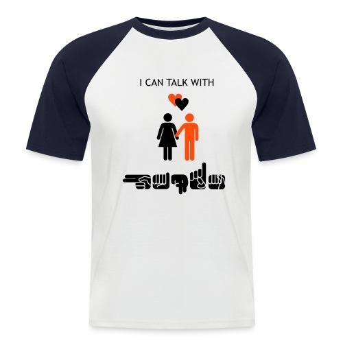 I can talk with hands - Männer Baseball-T-Shirt