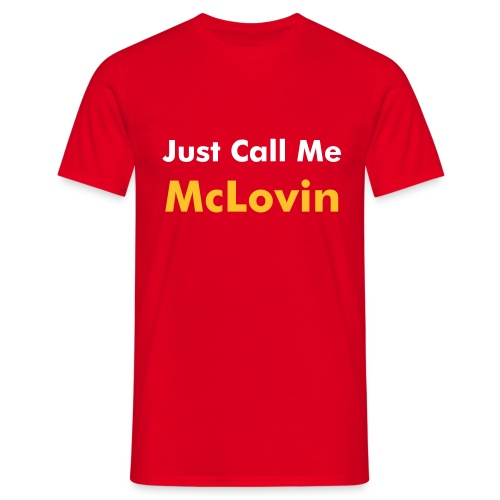 'Just Call Me McLovin' Tee Red - Men's T-Shirt