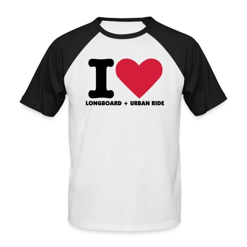 I LOVE LONGBOARD + URBAN - T-shirt baseball manches courtes Homme