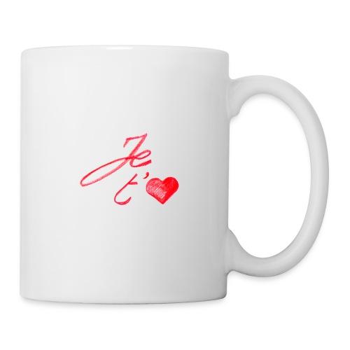Tasse je t'aime - Mug blanc