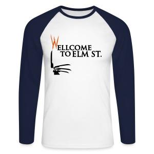 Camiseta Larga Elm Street - Raglán manga larga hombre