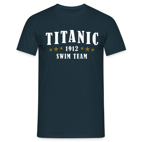 Titanic Swim Team Navy Blue - Men's T-Shirt
