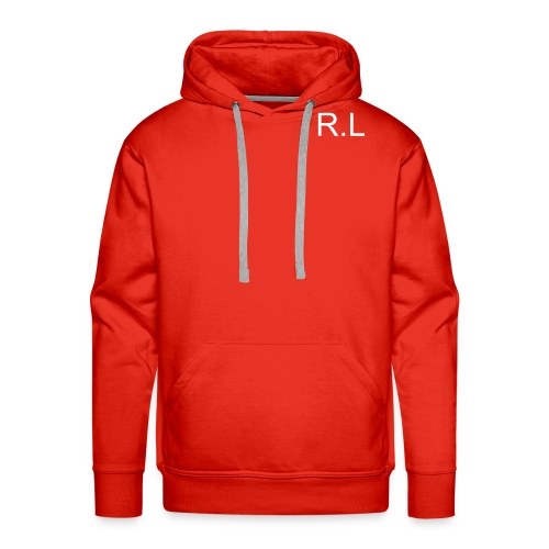 Men's Premium Hoodie - HOODIE,cool,hood,initials,jumper,nice,orange,red