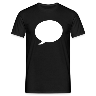 Black Speech balloon T-Shirts