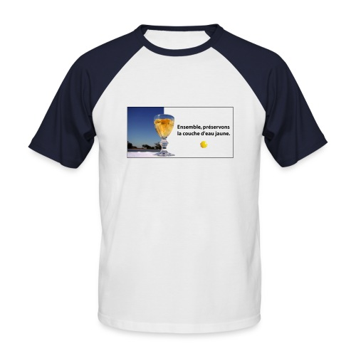 Ricard bleu - T-shirt baseball manches courtes Homme