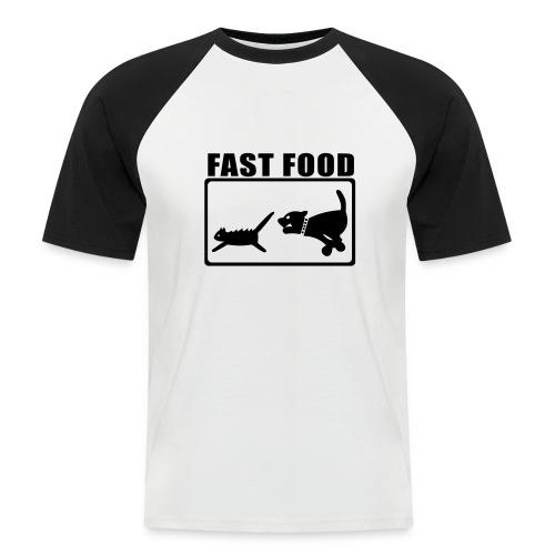 FastFood - Männer Baseball-T-Shirt