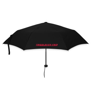 TribalAlien Umbrella Black, Red logo. - Umbrella (small)