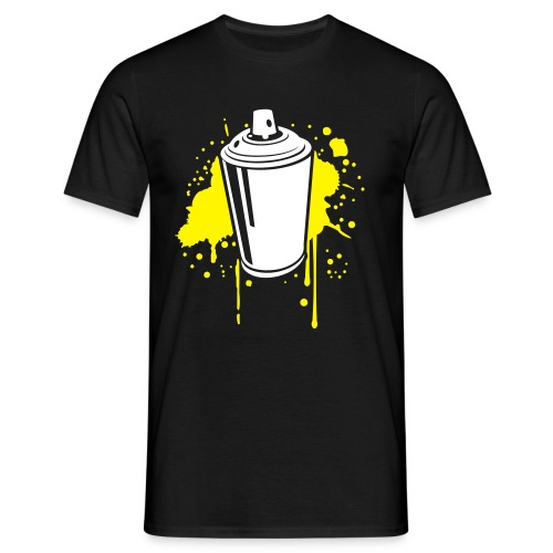 SprayCan Shirt Black - Männer T-Shirt