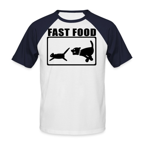 Fast Food 2 - Männer Baseball-T-Shirt
