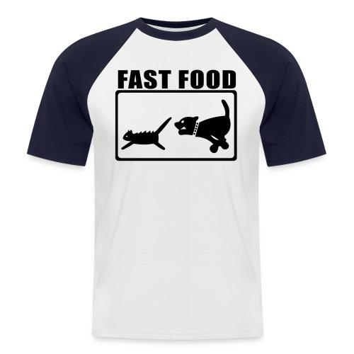 Fast Food 1 - Männer Baseball-T-Shirt