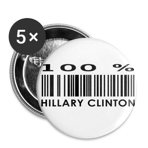 Buttons 100% Hillary - Stor pin 56 mm (5-er pakke)