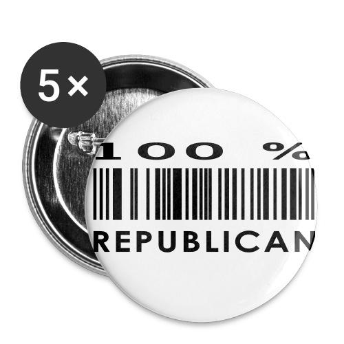 Buttons 100% repu - Stor pin 56 mm (5-er pakke)